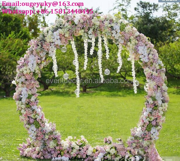 Wedding Arches For Sale: Round Flower Arch Stand Metal Wedding Arch For Weddings
