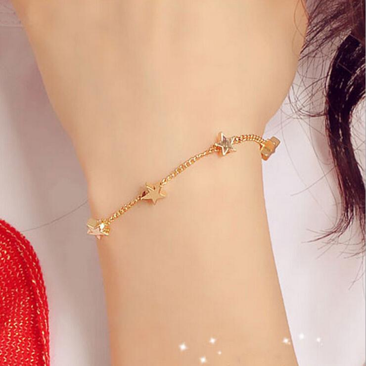 5f016a42aee8d BONLAVIE 1 Piece Women Fashion Ocean Style Multi Star/Heart Link Chain  Beach Bracelets & Bangles Novelty Jewelry