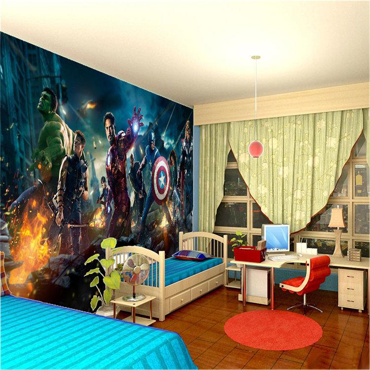 The Avengers Wall Mural Hulk Captain America Thor Photo Wallpaper Movie Custom Wall Mural Nursery Sofa Tv Background Wall