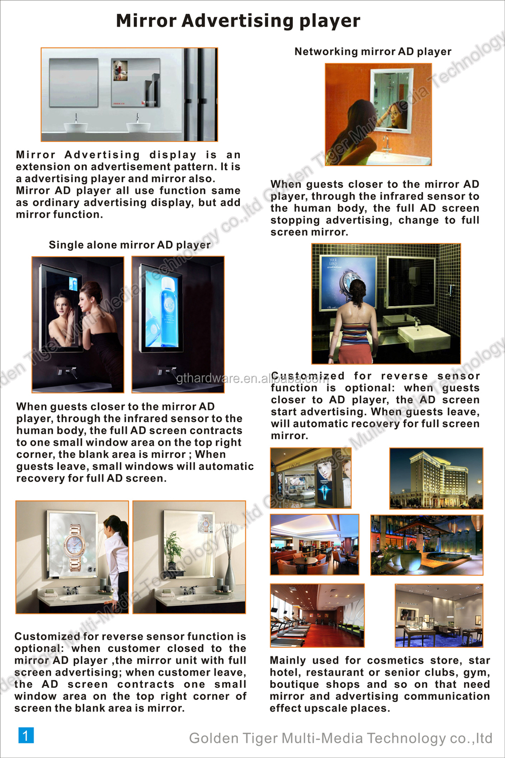 19 Quot Bathroom Smart Lcd Magic Mirror With Wifi Advertising