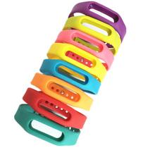 1Pcs Solid Xiaomi Mi band font b Smart b font Wristband Silicone Replace Belt Strap Band