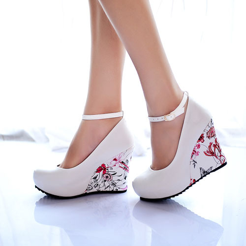 White Pointed Wedges Shoes