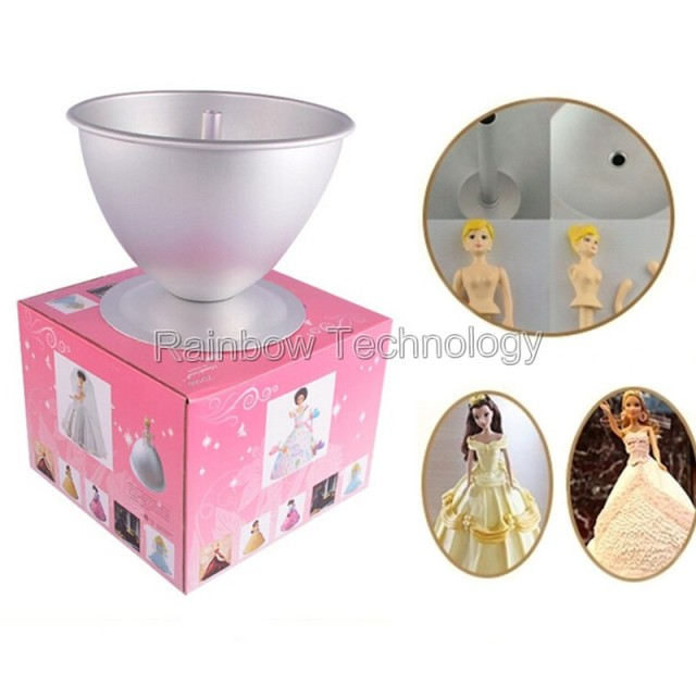 Barbie Doll Baking Tin Cake Pan 3d Princess Dress Molds