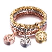 3 шт./компл. браслет в виде совы с кристаллами и сердечком, Золотой/Серебряный кулон в виде слона и якоря, женский браслет-стразы, подарок(Китай)