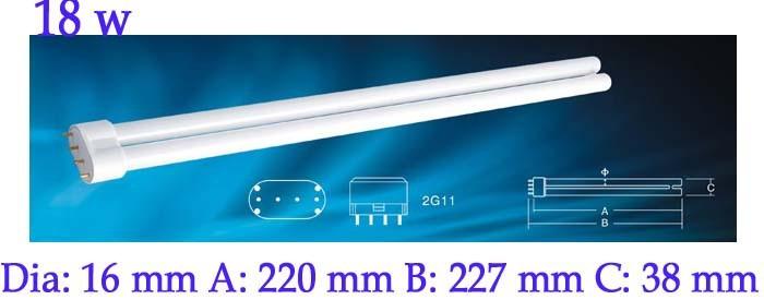 Universal fit 18 watt 2G11 Base PLL UV-C Germicidal Bulb