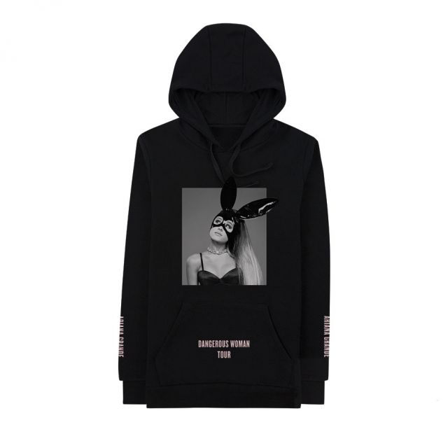 5fdd1b6f8 Exclusive Hoodies Men Tour Dangerous Woman Bunny White Black Hoodie  sweatshirts Casual Fashion Streetwear Hooded