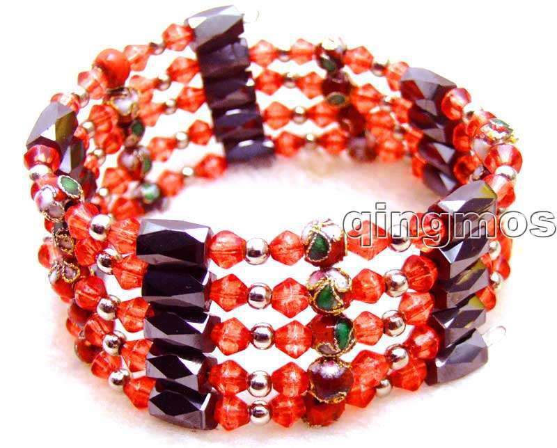 Red Hematite Beads 6mm Red Cloisonne Hematite
