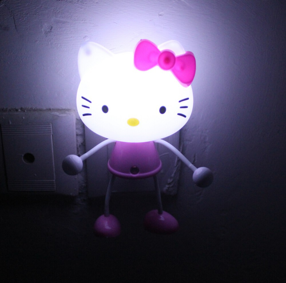 3d hello kitty led photoreceptor light control sensor night lights lamps light ebay. Black Bedroom Furniture Sets. Home Design Ideas