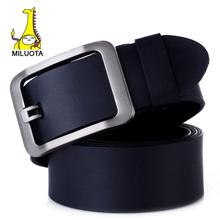 [MILUOTA] 2014 100% Genuine Leather belts for men High quality metal pin buckle jeans belt mens belts luxury LW532