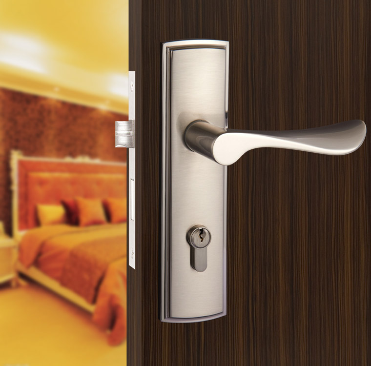 New Aluminum Material Interior Door Lock Living Room
