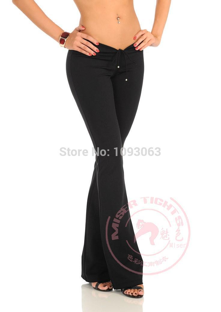 0bf531b0e3 Womens Black Pants Low upward push   MISSCHATTER