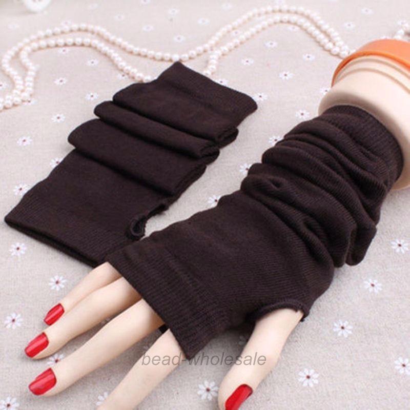 Hot Women Winter Wrist Arm Hand Warmer Knitted Long Fingerless Gloves Mittens 012 Gloves Ipod Glove Leatherglove Ball Aliexpress