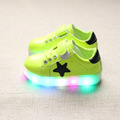 2016 New Autumn Toddlers shoes With Light Little Kids Colorful Light emitting LED flash Sneakers Boys
