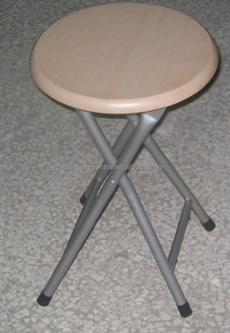 Top Sale Wood Round Stool Round Folding Stool Mdf Foldable