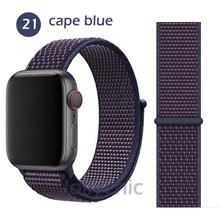 Ремешок для Apple Watch Series 5 4 3/2 38 мм 42 мм нейлоновый мягкий дышащий сменный ремешок Спортивная петля для iwatch series 4 5 40 мм 44 мм(Китай)