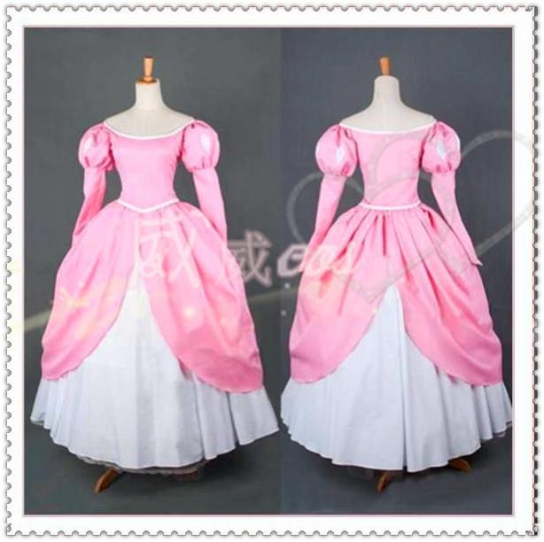 Compre Al Por Mayor La Sirenita Ariel Princess Pink Dress Made Cosplay Costume Envío Gratis A 1034 Del Pamele Dhgatecom