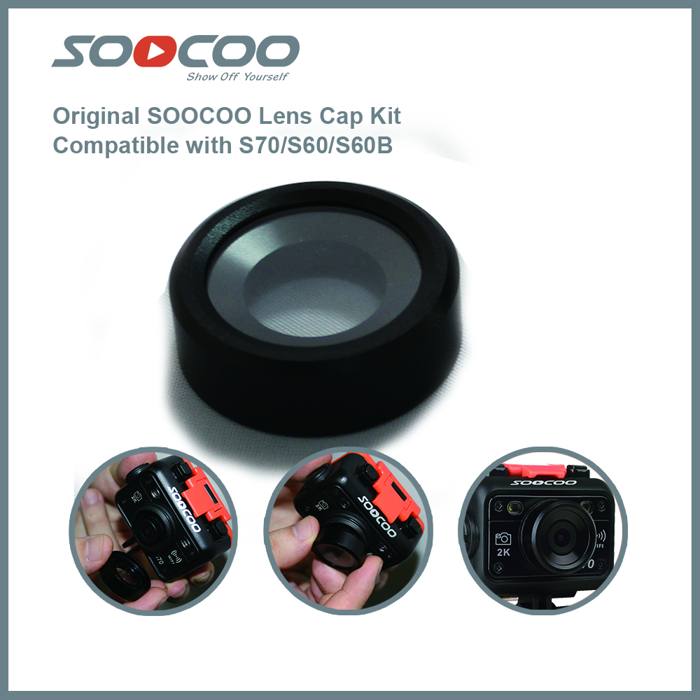 Original SOOCOO Lens Cover Kit for S70 / S60 / S60B Action Camera