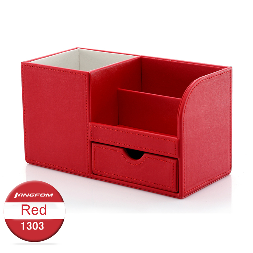 ever perfect cool design wood leather home office desk cosmetics sundries stationery storage box. Black Bedroom Furniture Sets. Home Design Ideas