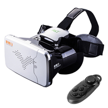 """RITECH III VR Virtual Reality 3D Glasses Headset Oculus Rift Head Mount Cardboard for 3.5""""-6"""" Phone + Bluetooth Remote Control"""