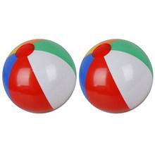 2 шт. резиновый мяч Детская игра на пляже, надувной мяч в бассейне детские резиновые Развивающие мягкие обучающие игрушки(Китай)