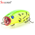 1PCS 3D Eyes Lifelike Fishing Lure 5 5cm 11g 8 Hooks Pesca Fish Popper Lures Wobbler