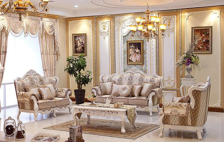 european style luxury villa living room sofa sofa leather sofa fabric french neoclassical living. Black Bedroom Furniture Sets. Home Design Ideas