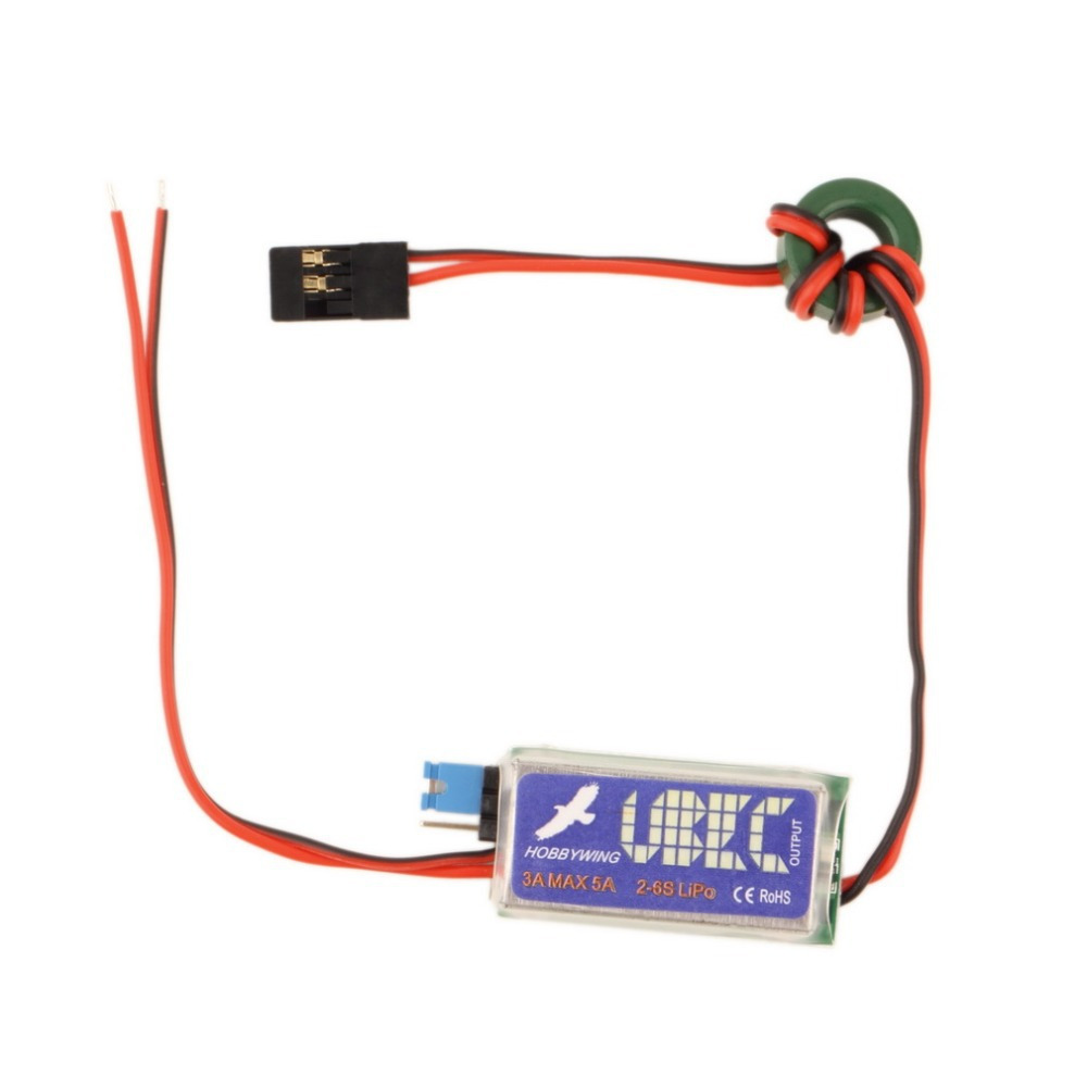 5V 6V HOBBYWING RC UBEC 3A Max 5A Lowest RF Noise BEC Full Shielding Antijamming Switching