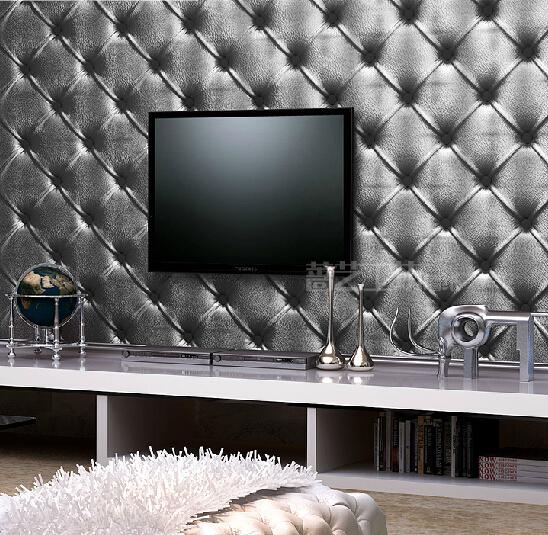 Black Light Bedroom: Modern PVC Waterproof 3D Wallpaper Living Room Bedroom TV