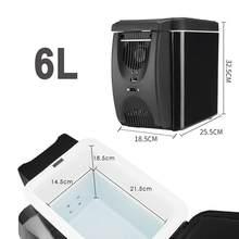 12V холодильник с морозильной камерой нагреватель 6L автомобильный мини-морозильник кулер теплее, электрический холодильник Портативный Пут...(Китай)