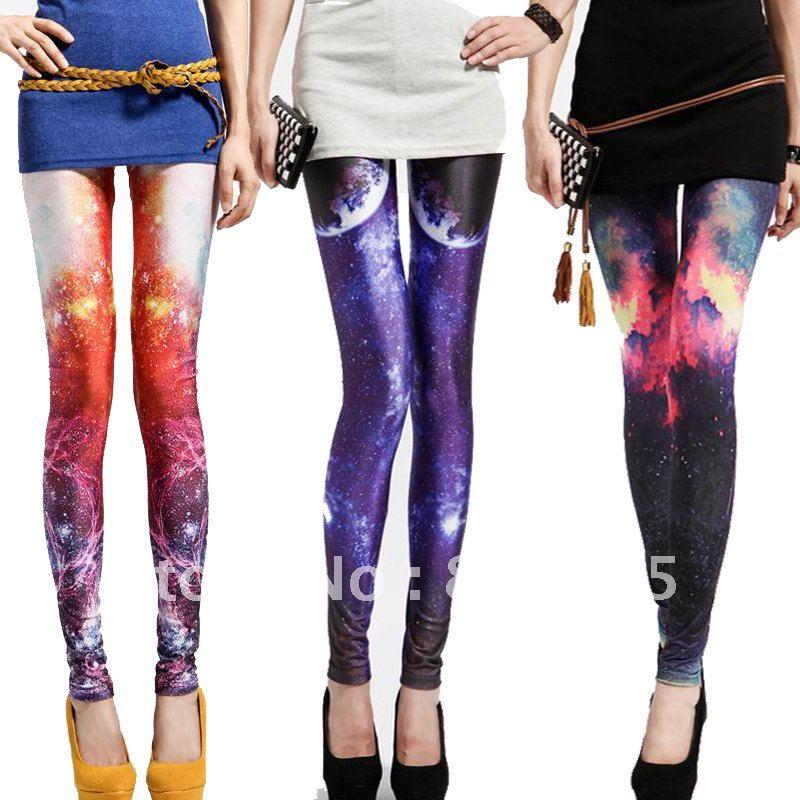 Cheap Leggings For Women Winter Galaxy Cosmic Space Tie ...
