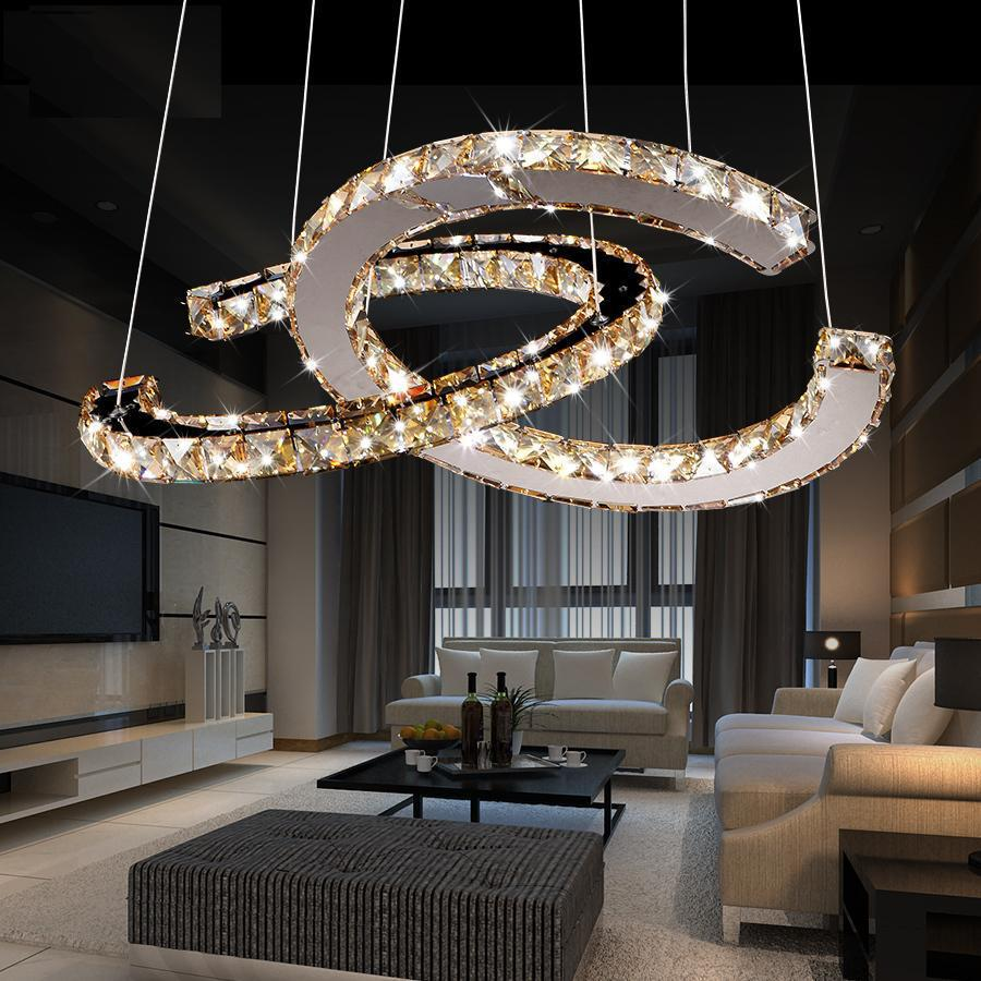 free shipping 2016 kabo sen circular led chandelier restaurant creative minimalist dining room. Black Bedroom Furniture Sets. Home Design Ideas