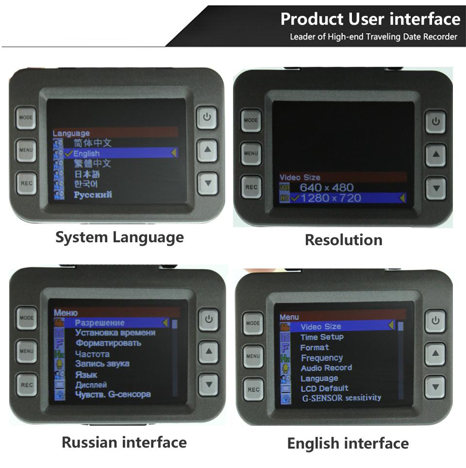 Автомобиль анти-радар-детектор HD 1280 * 720 P камера DVR GPS рекордер россии и английском голос G - датчик GPS логгером радар-детекторов