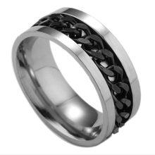 Мужское кольцо из титановой стали, вращающееся на цепочке(Китай)