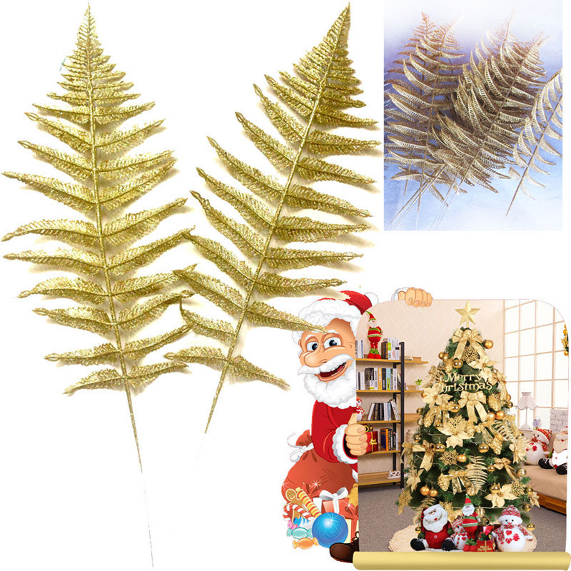 Christmas Tree Decorations Aliexpress: Christmas Tree Decorations 50cm Iron Gold Halle Leaves