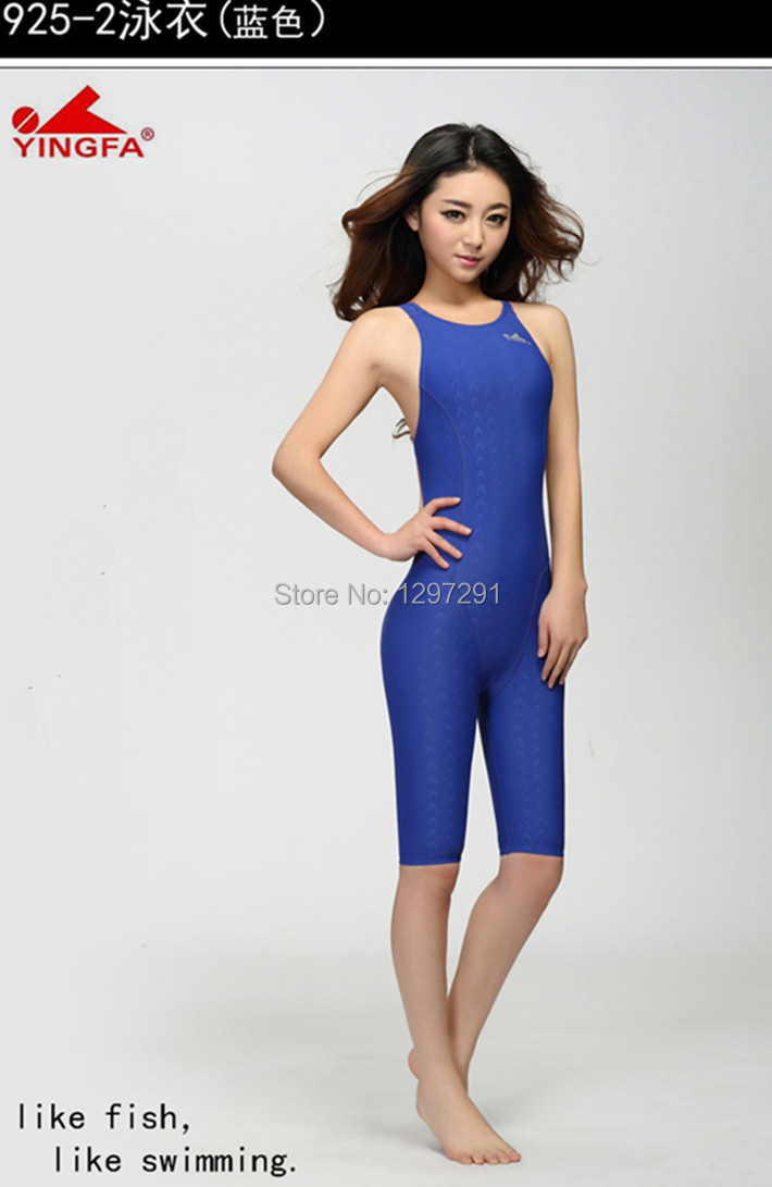 d70c84f89 Yingfa FINA approved high quality one piece training competition waterproof  sharkskin resistant women `s swimwear plus siz bathing suits925