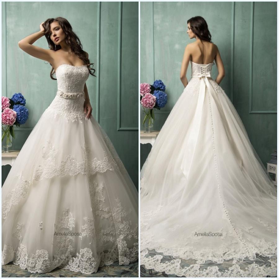 Wedding Dresses Lace Up Back