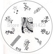 2015 S Series S10 Nail Polish DIY Stamping Plates Stainless Steel plate Nail Art Image Stamp