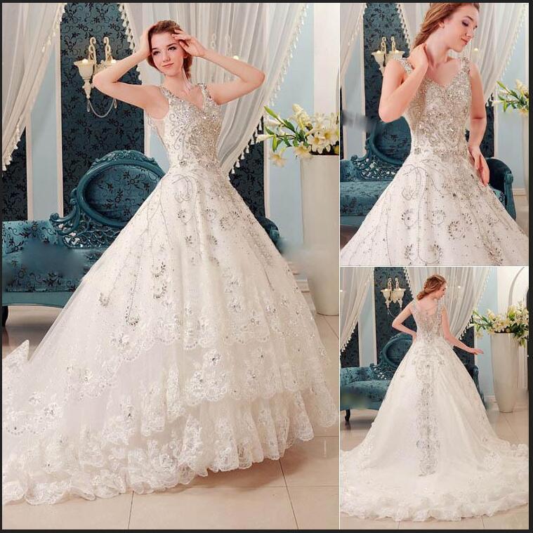 Wedding Gowns With Swarovski Crystals: Online Buy Wholesale Swarovski Crystals Wedding Dress From