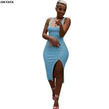 Женское трикотажное облегающее платье средней длины без рукавов, винтажные Вечерние Платья До Колена, LM9065, лето 2019(Китай)