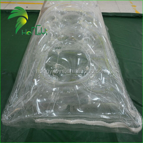 Clear Double Layer Pvc Inflatable Mattress Walking