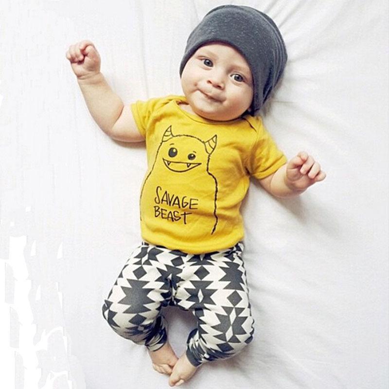 447e58ea6 Summer kids clothes sets boy t-shirt+pants suit clothing set Clothes newborn  sport suits baby boy clothes children boys clothes