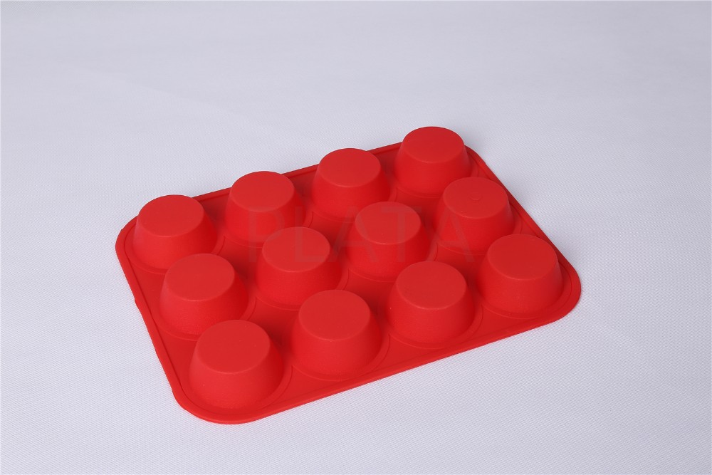 Silicone 12 Cavity Muffin Mold Mini Loaf Brownie Baking