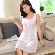 Ночная рубашка Fdfklak, шелковая ночная рубашка без рукавов большого размера, Q643(Китай)