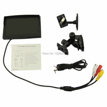 Free shopping 5 Inch TFT LCD Car Color Rear View Monitor Parking Backup Camera DVD + 2 Bracket For DVD/ VCD/ Camera