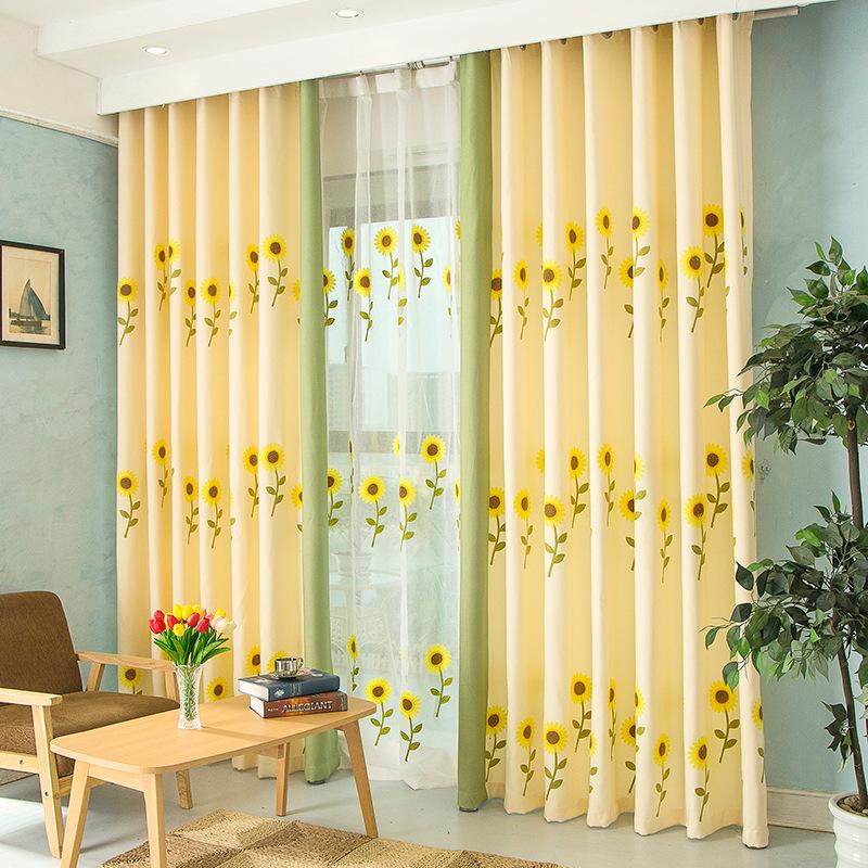 Popular Sunflower Kitchen Curtains-Buy Cheap Sunflower