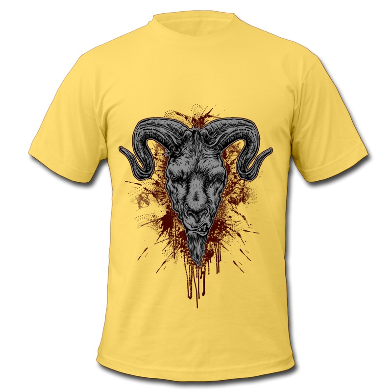Low Price O Neck T Shirt Men Animal the Killed Ox Print ...