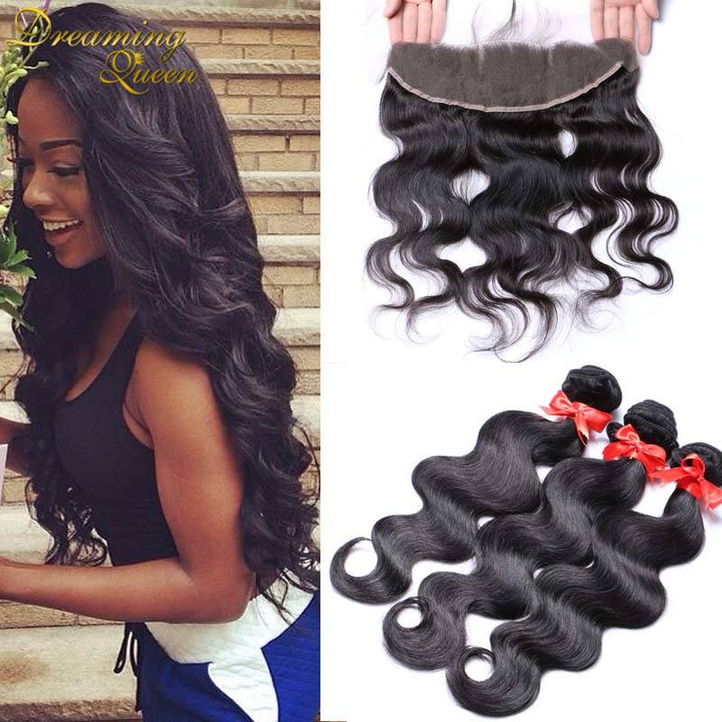 Brazilian Lace Frontal Closure With Bundles Peruvian Body Wave With Frontal Closure 13x4 Lace Frontal Closure