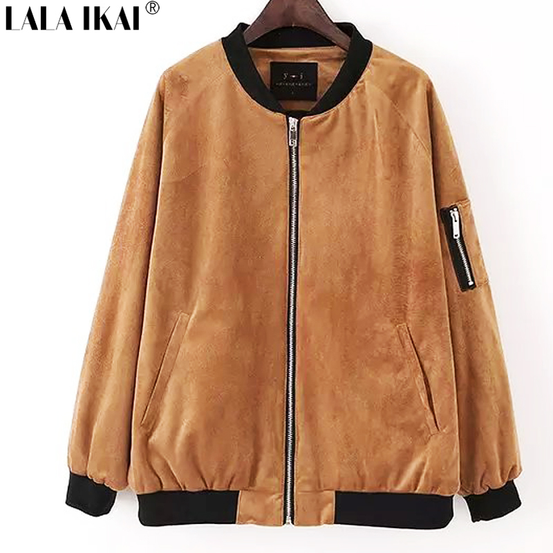 Womens brown bomber jacket