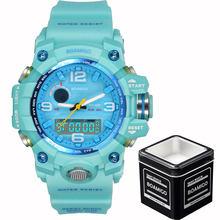 BOAMIGO Брендовые женские спортивные часы, многофункциональные часы с двойным дисплеем, модные цифровые наручные часы, водонепроницаемые Relogio ...(China)