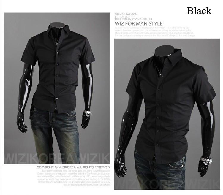 Свободного покроя стильный мужчины в бизнес платье рубашки, Соединение в замок цвет, И 6537